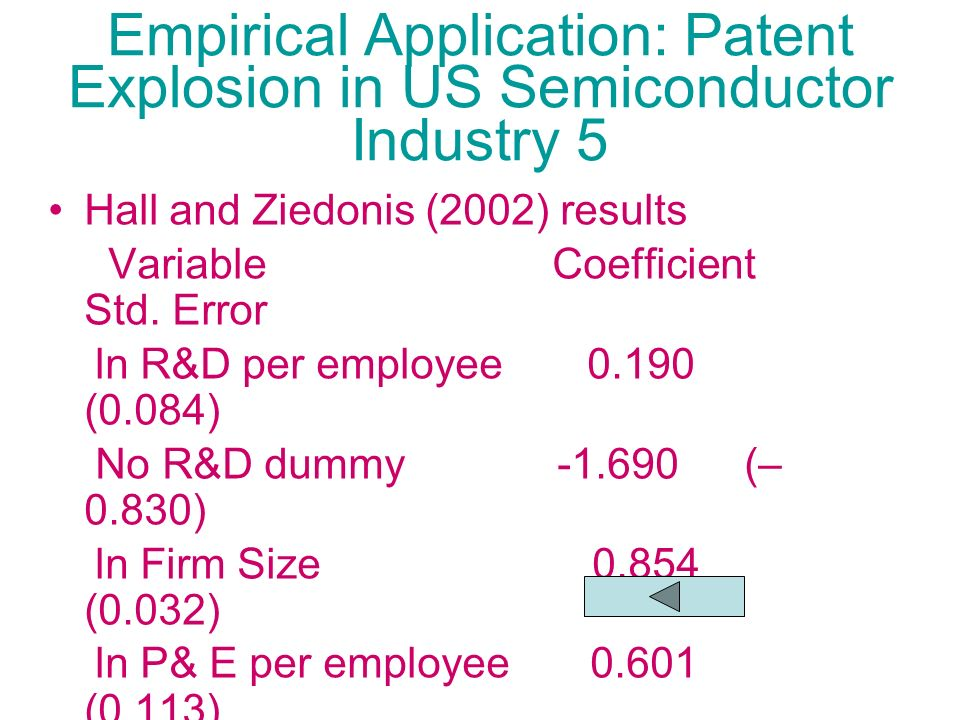 Empirical Application: Patent Explosion in US Semiconductor Industry 5
