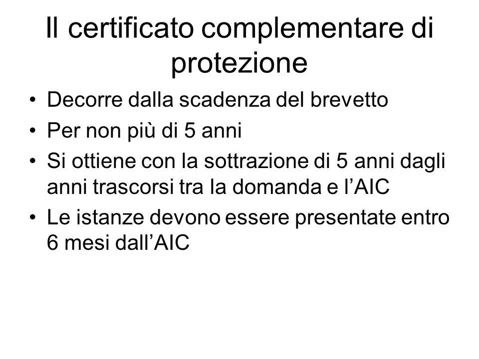 Il certificato complementare di protezione