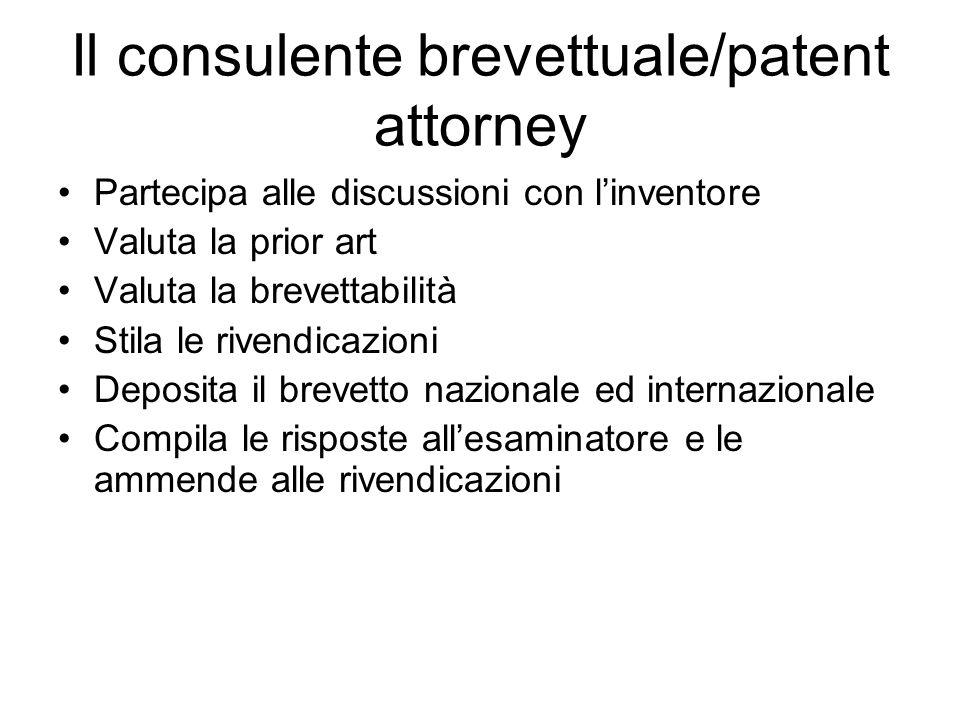 Il consulente brevettuale/patent attorney