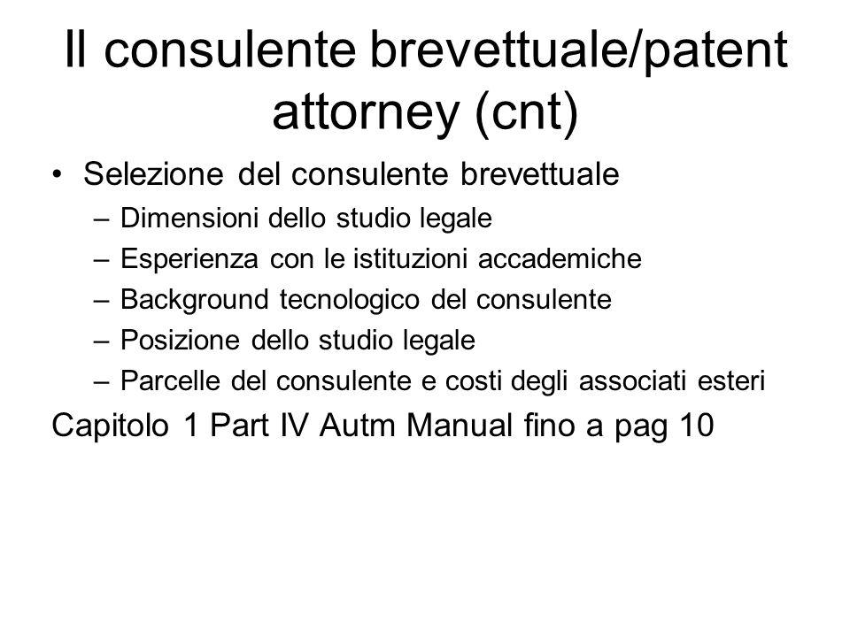 Il consulente brevettuale/patent attorney (cnt)