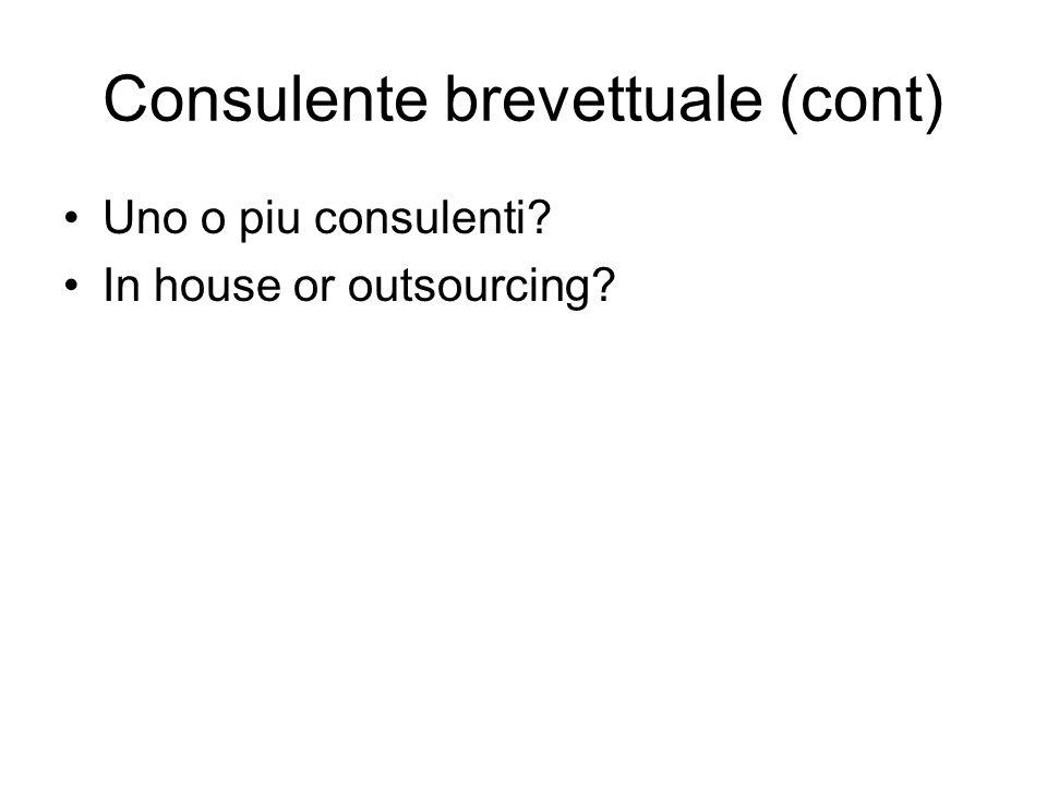 Consulente brevettuale (cont)