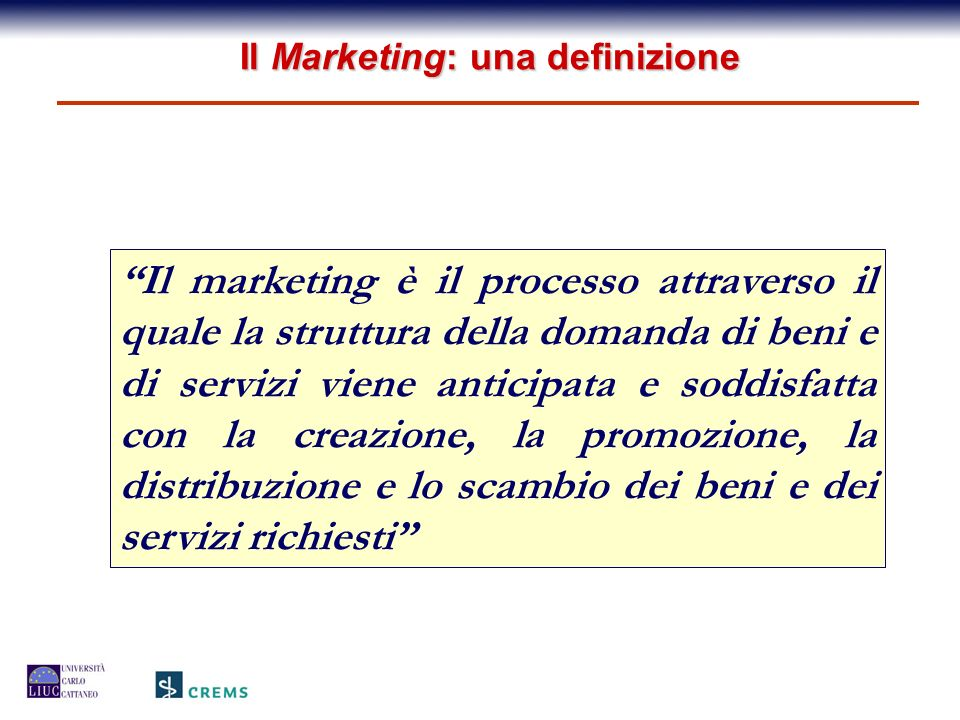 Il Marketing: una definizione