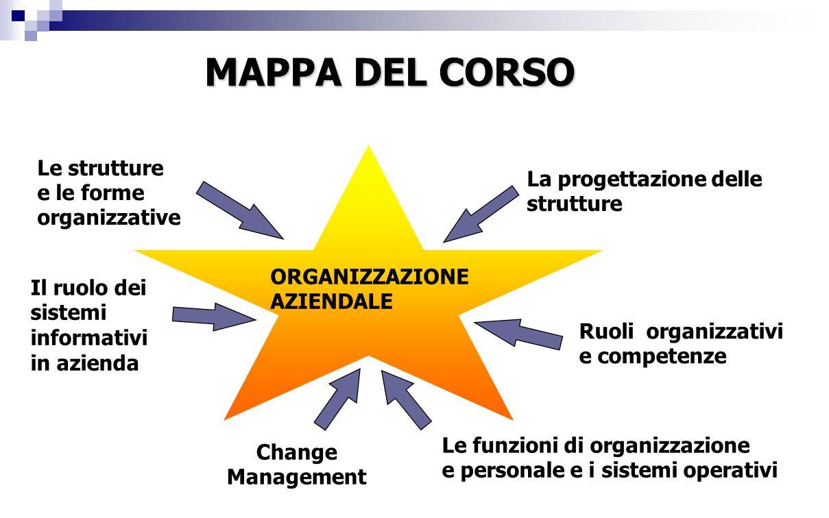 MAPPA DEL CORSO Le strutture e le forme organizzative
