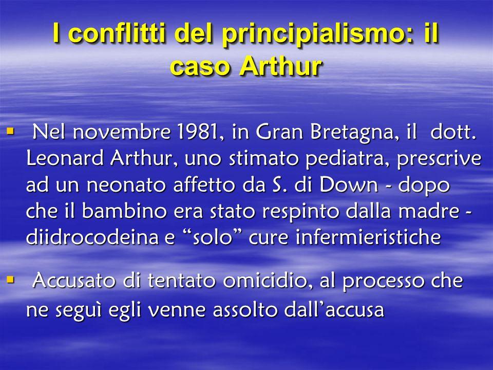 I conflitti del principialismo: il caso Arthur