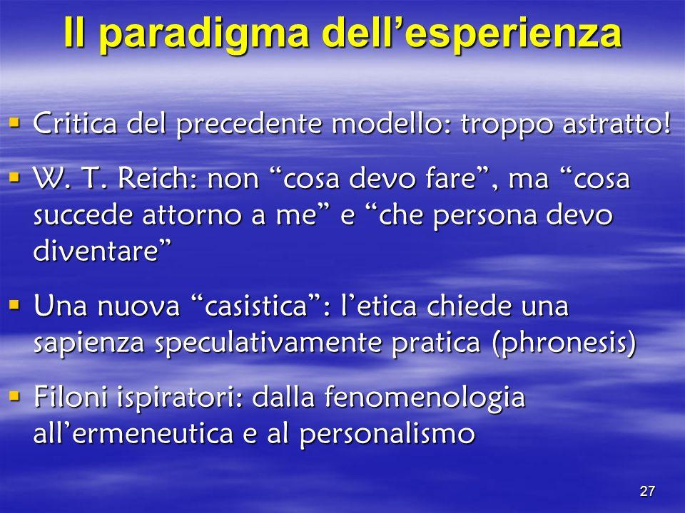Il paradigma dell'esperienza