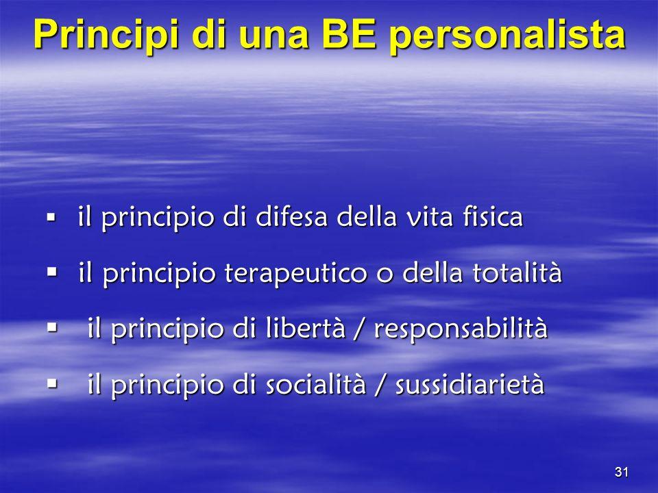 Principi di una BE personalista