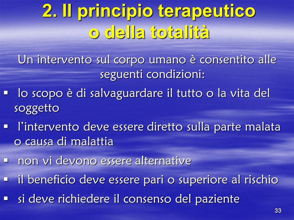 2. Il principio terapeutico o della totalità