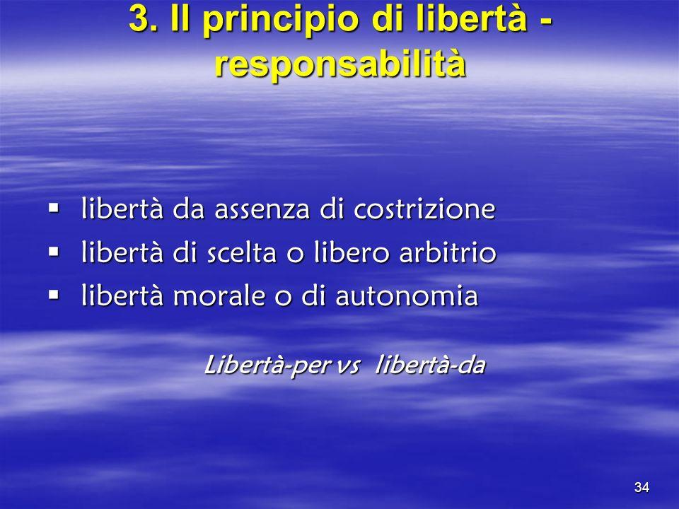 3. Il principio di libertà - responsabilità