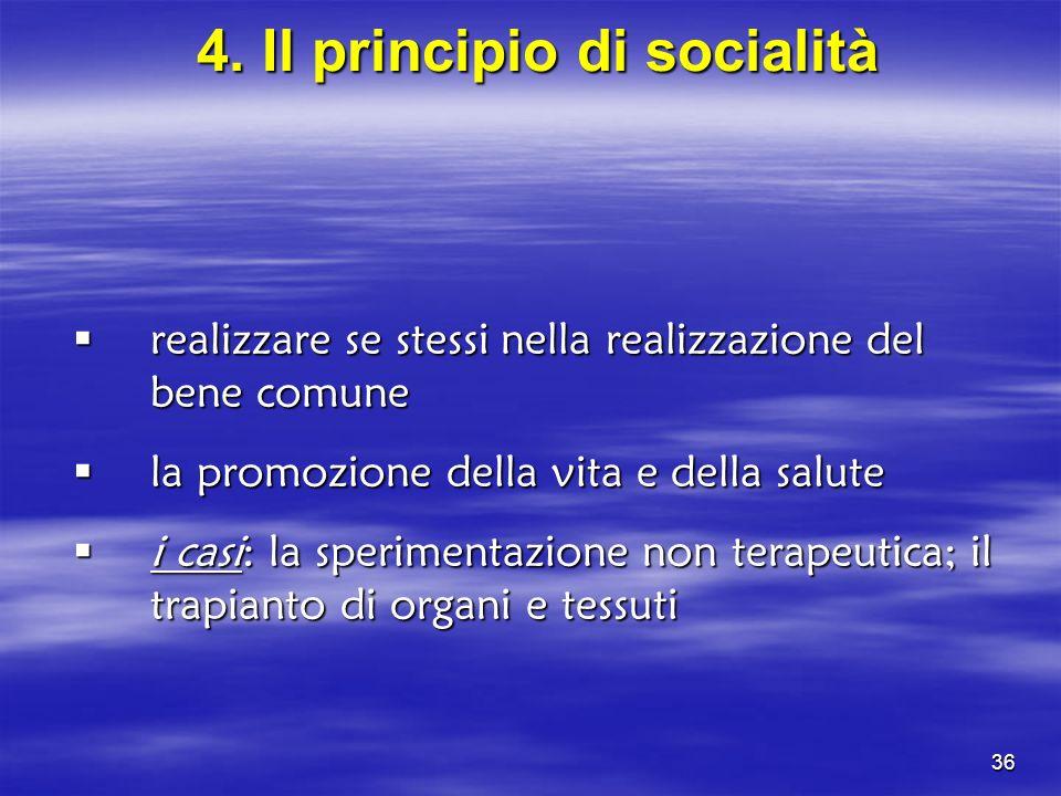 4. Il principio di socialità