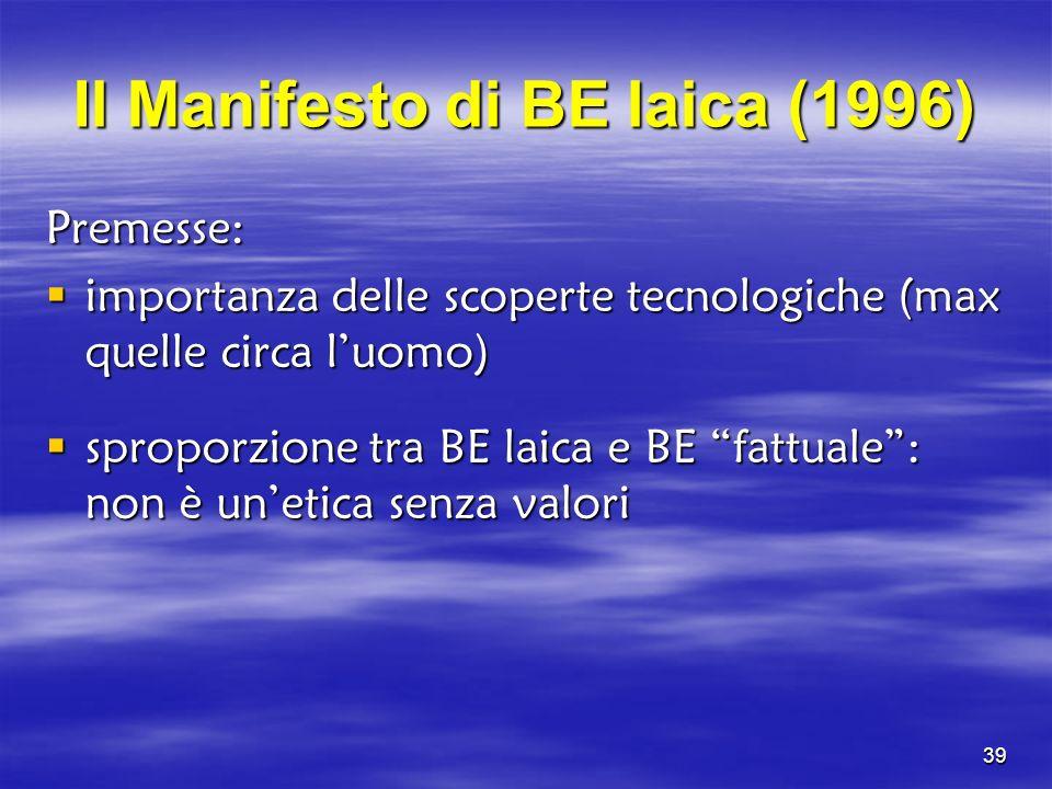 Il Manifesto di BE laica (1996)