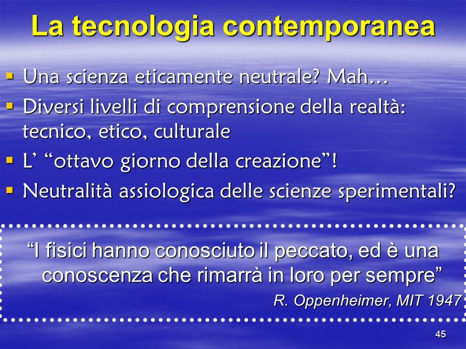 La tecnologia contemporanea