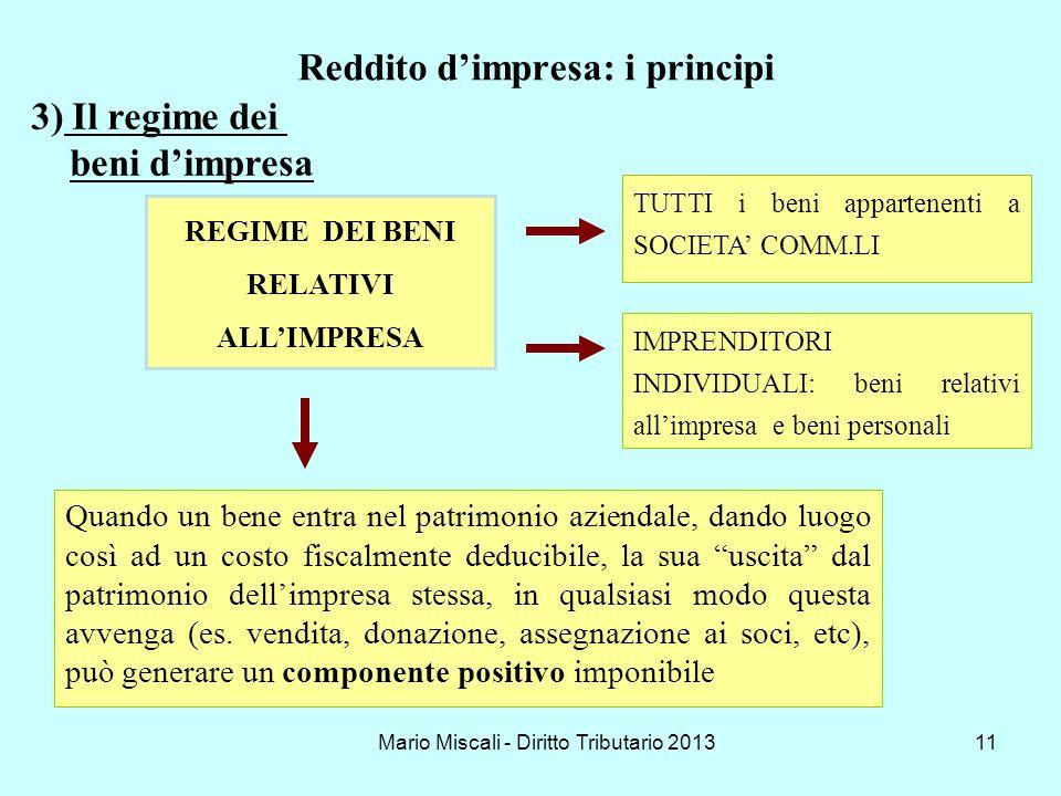 Reddito d'impresa: i principi