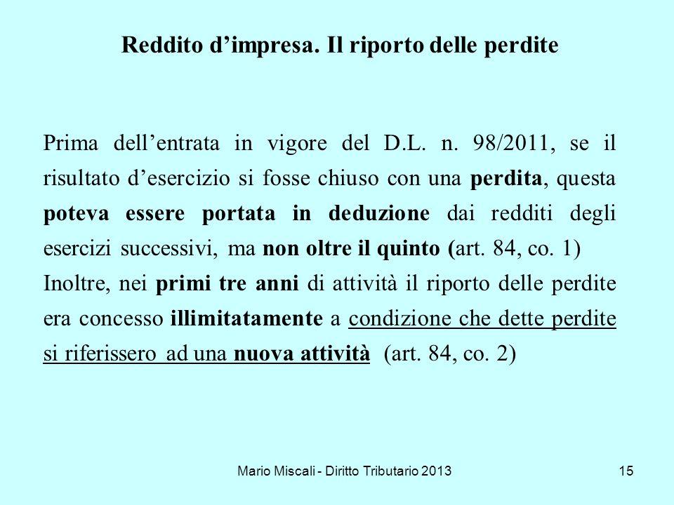 Mario Miscali - Diritto Tributario 2013
