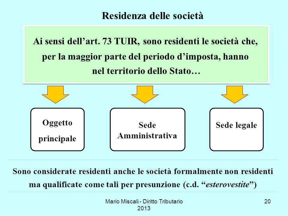 Residenza delle società