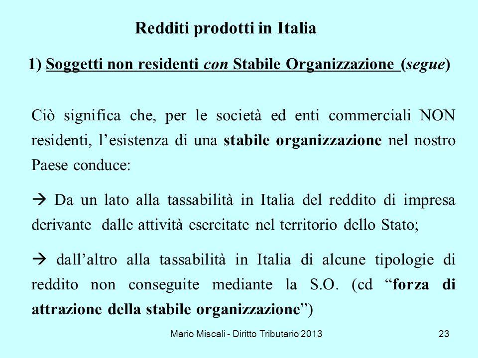 Soggetti non residenti con Stabile Organizzazione (segue)