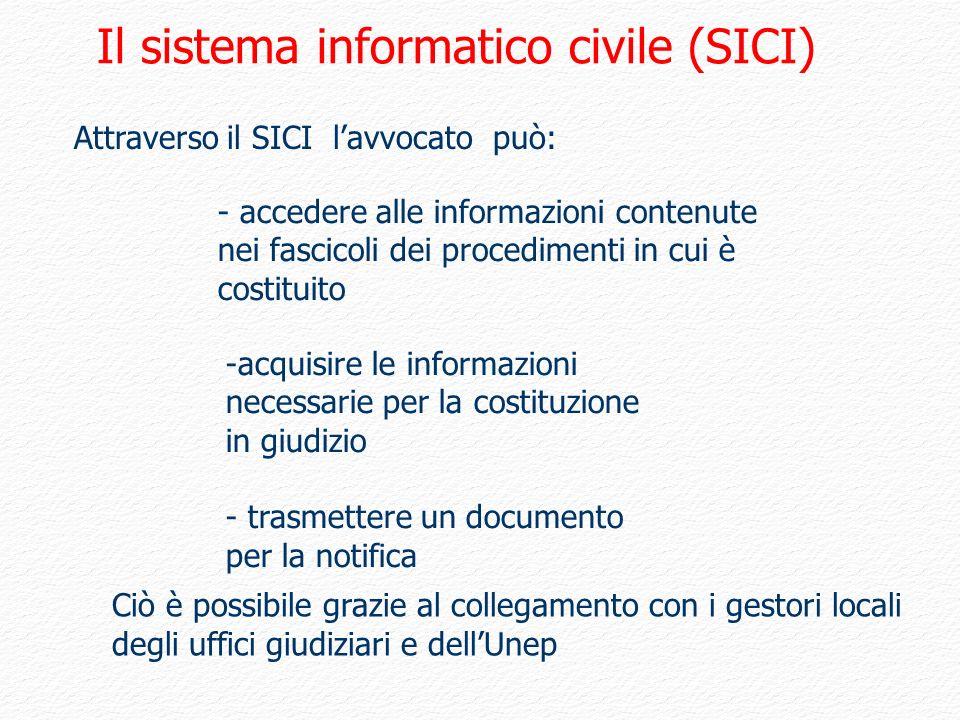 Il sistema informatico civile (SICI)