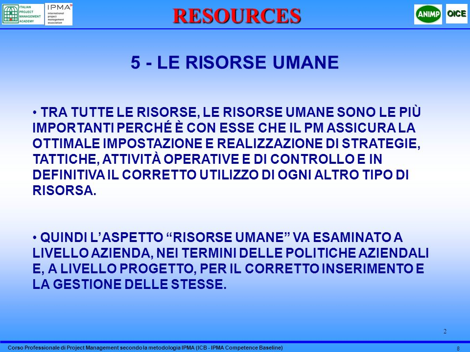 RESOURCES 5 - LE RISORSE UMANE