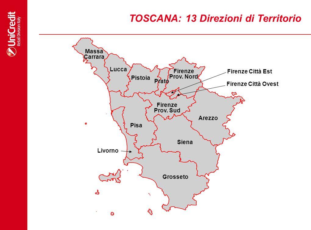 TOSCANA: 13 Direzioni di Territorio