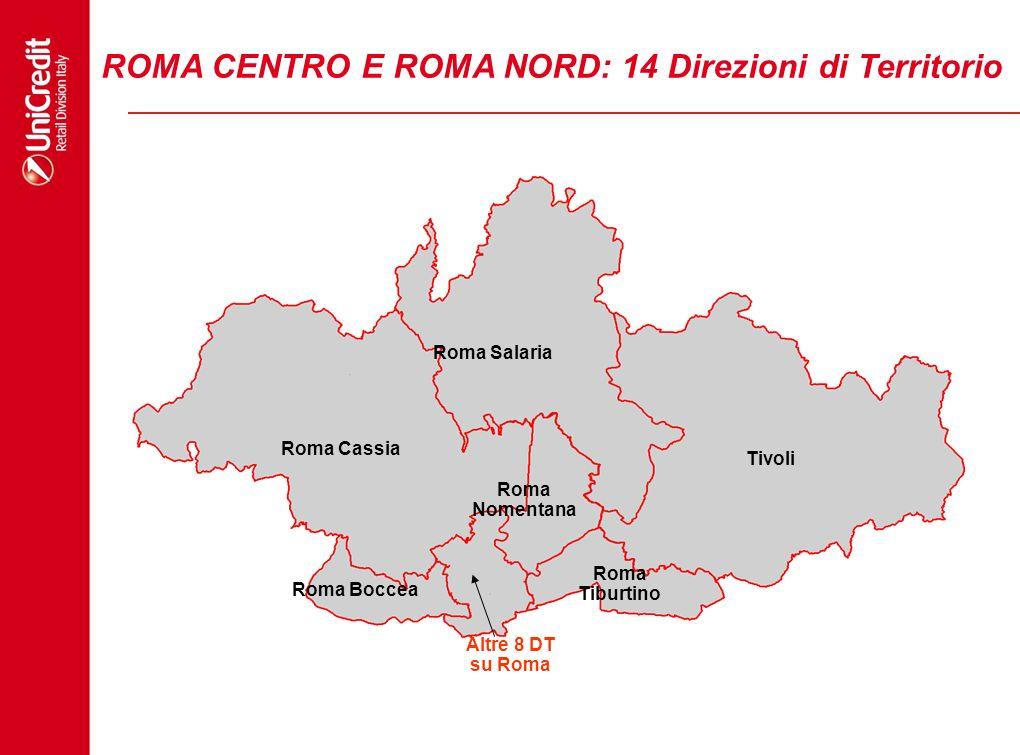 ROMA CENTRO E ROMA NORD: 14 Direzioni di Territorio