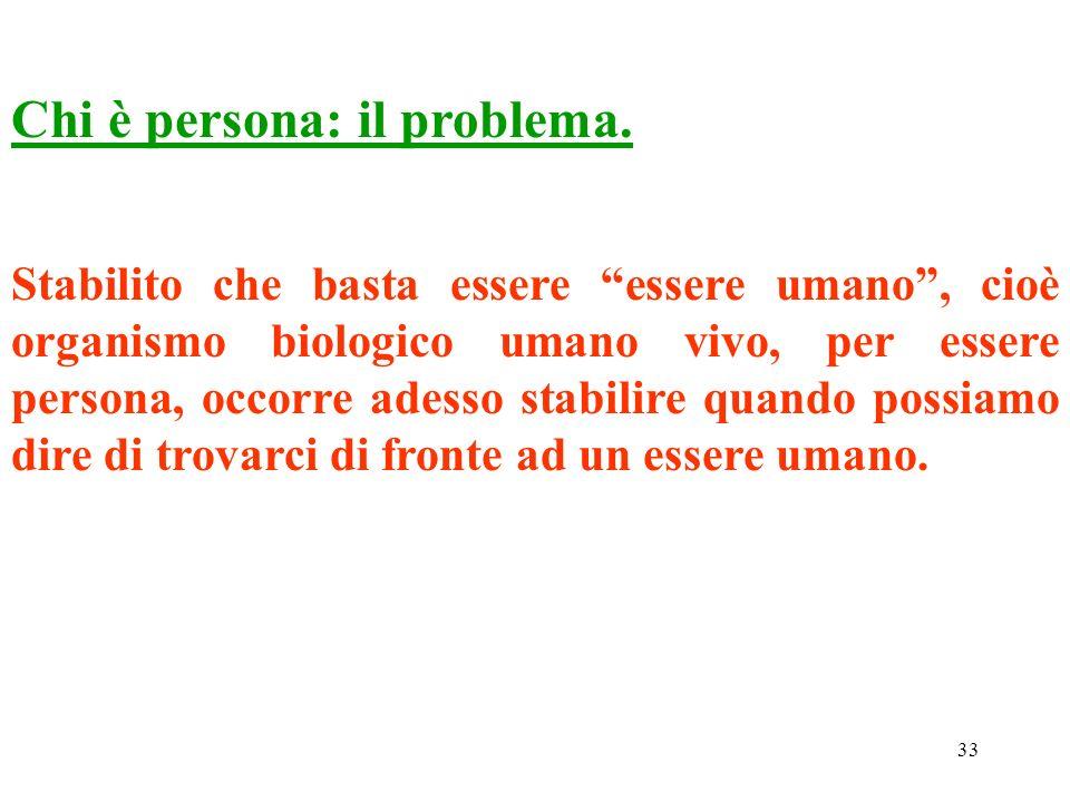 Chi è persona: il problema.