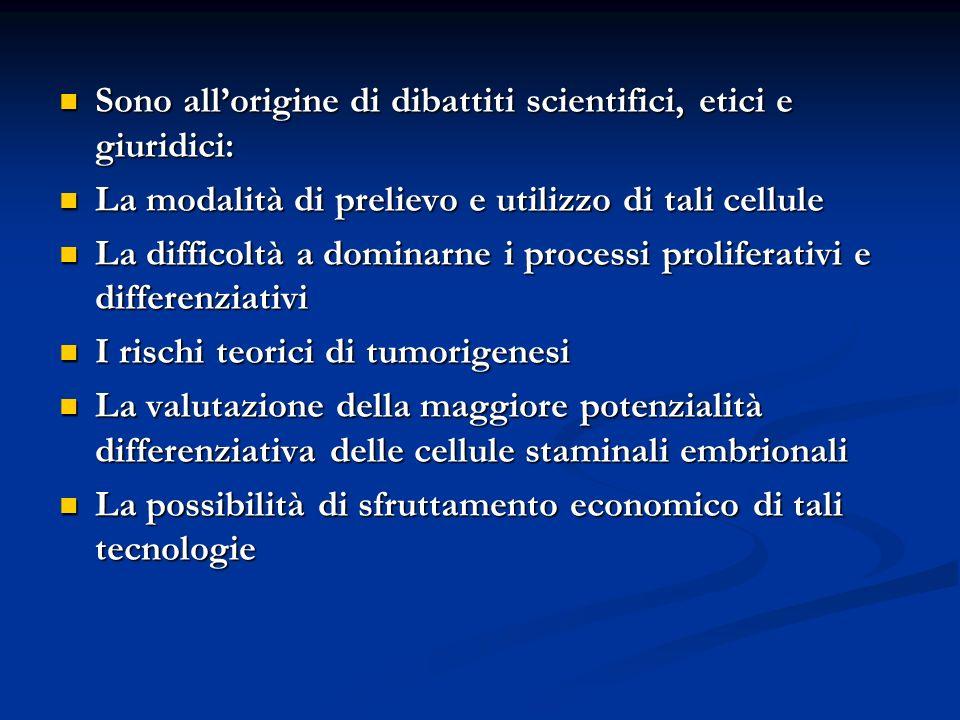 Sono all'origine di dibattiti scientifici, etici e giuridici: