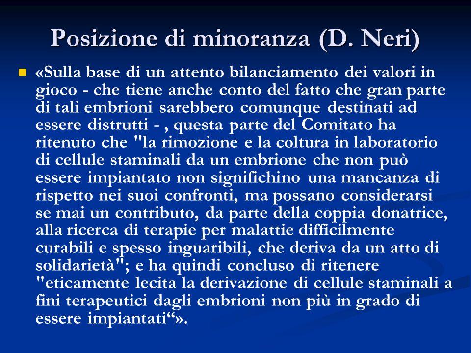 Posizione di minoranza (D. Neri)