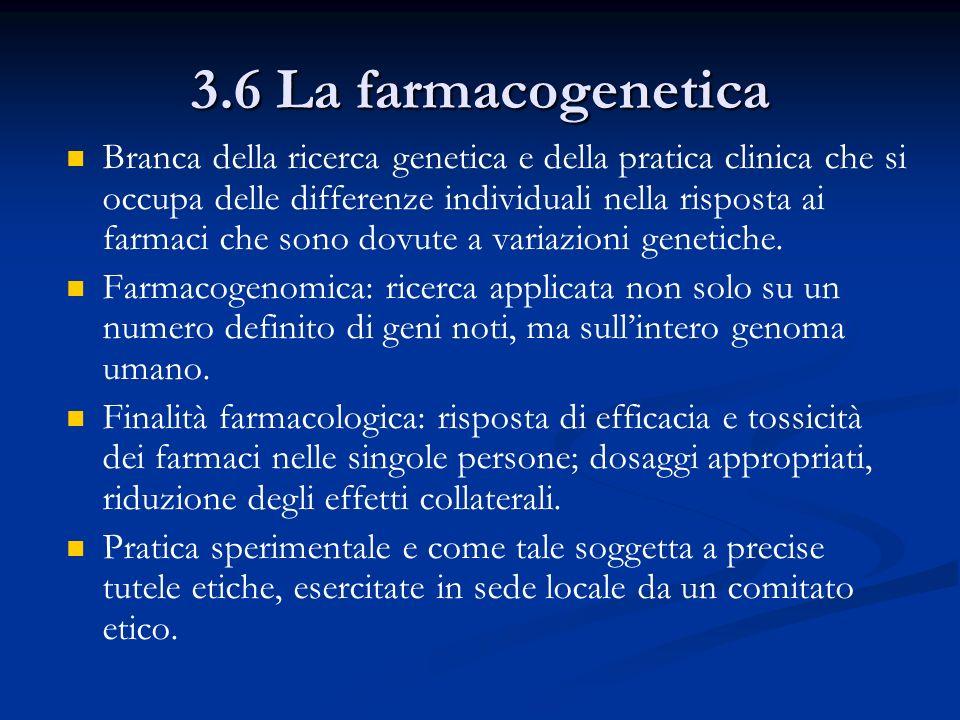 3.6 La farmacogenetica