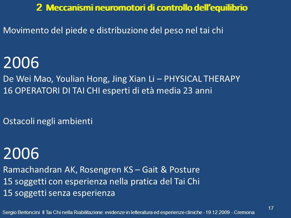 2006 2006 2 Meccanismi neuromotori di controllo dell'equilibrio