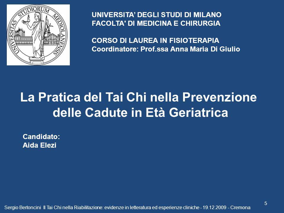 La Pratica del Tai Chi nella Prevenzione