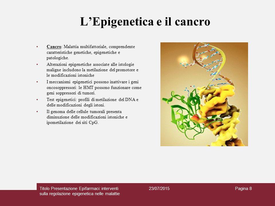 L'Epigenetica e il cancro