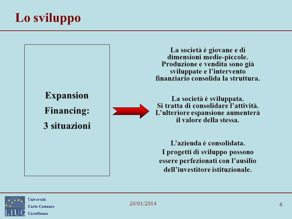 Lo sviluppo Expansion Financing: 3 situazioni