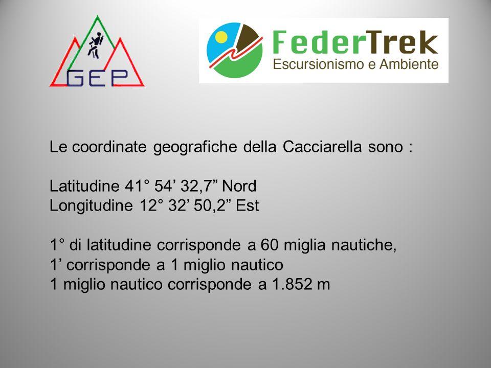 Le coordinate geografiche della Cacciarella sono :