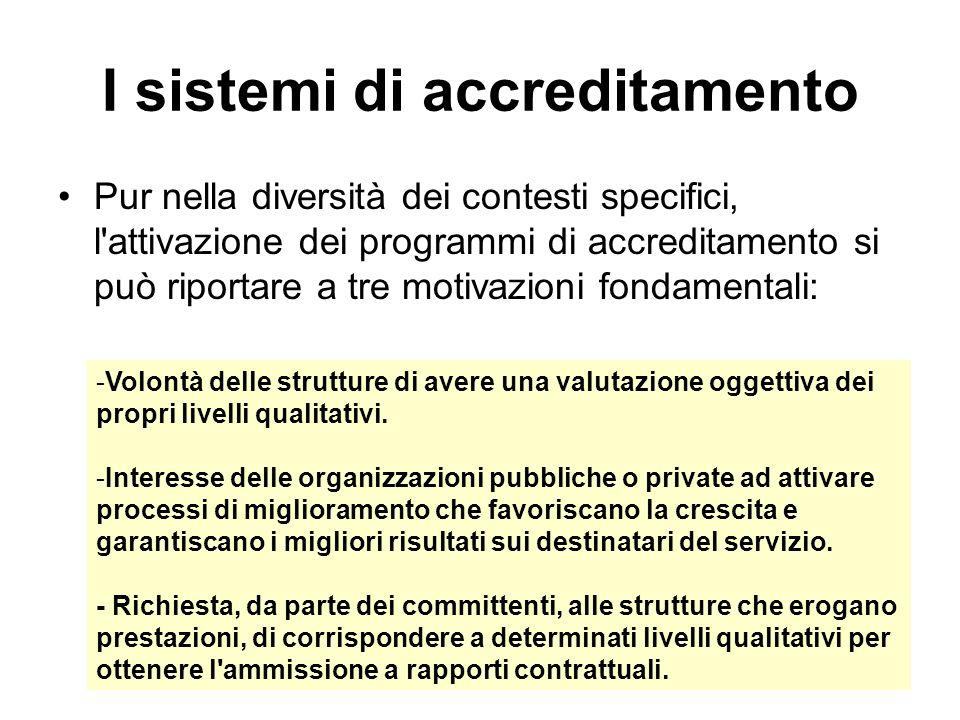 I sistemi di accreditamento