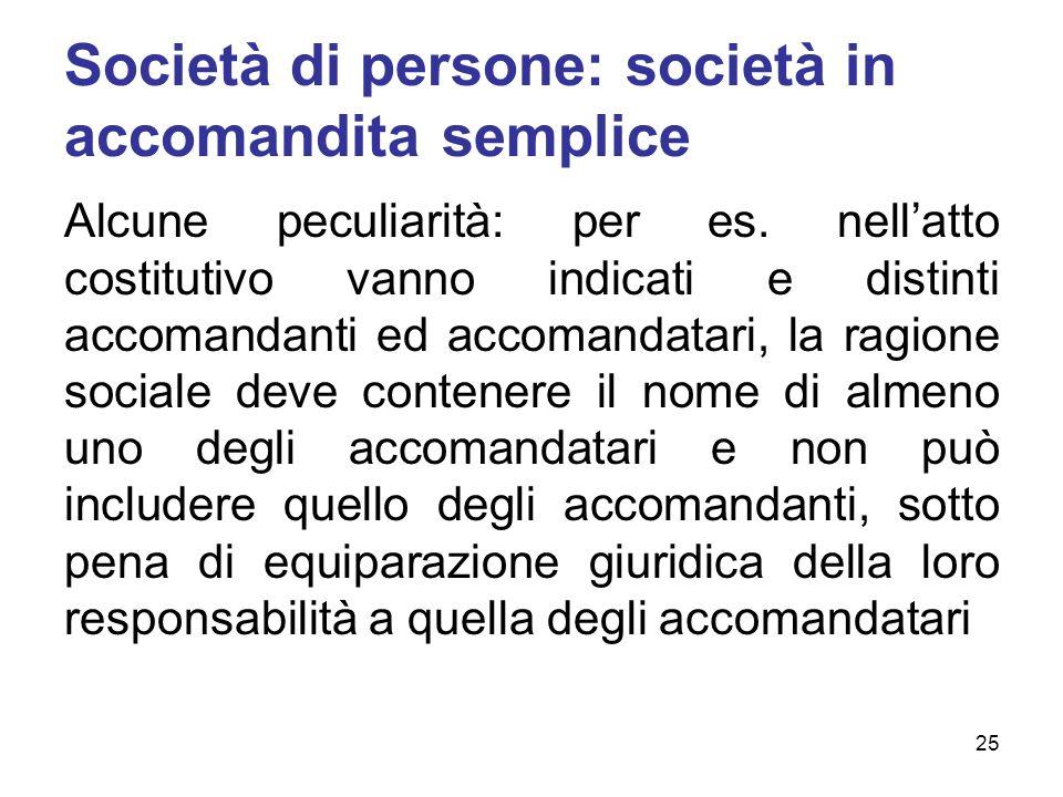 Società di persone: società in accomandita semplice