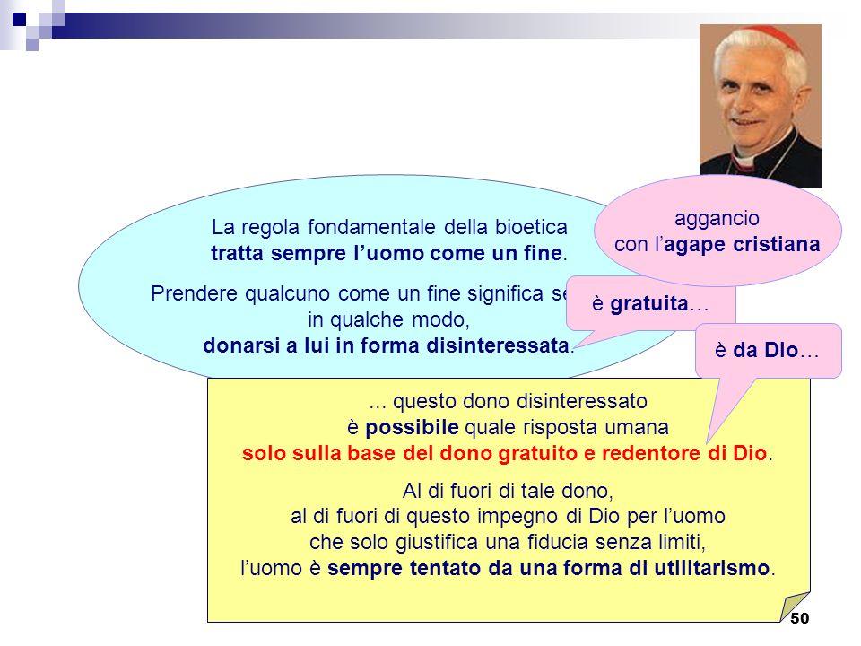 La regola fondamentale della bioetica