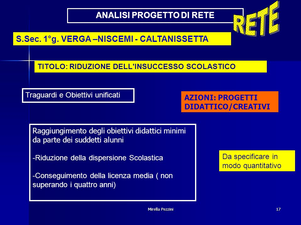 ANALISI PROGETTO DI RETE
