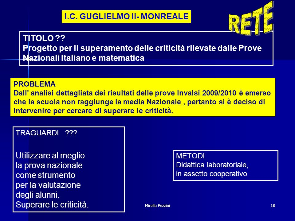 RETE I.C. GUGLIELMO II- MONREALE TITOLO