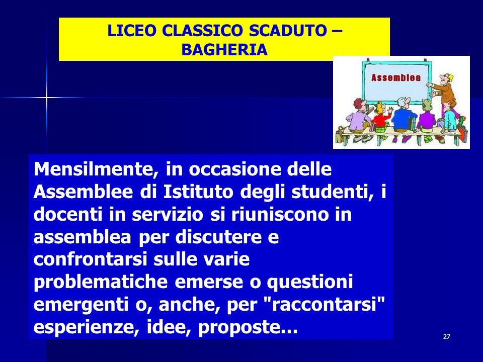 LICEO CLASSICO SCADUTO – BAGHERIA
