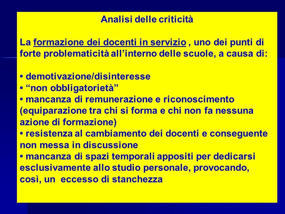Analisi delle criticità