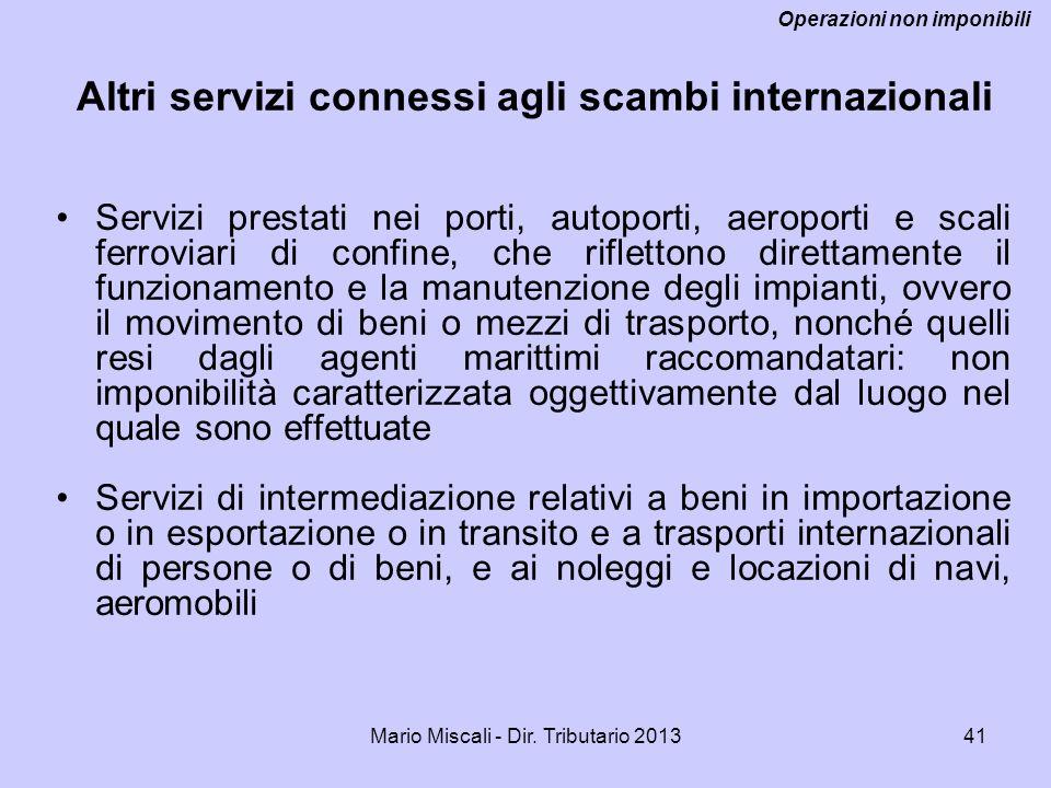 Altri servizi connessi agli scambi internazionali