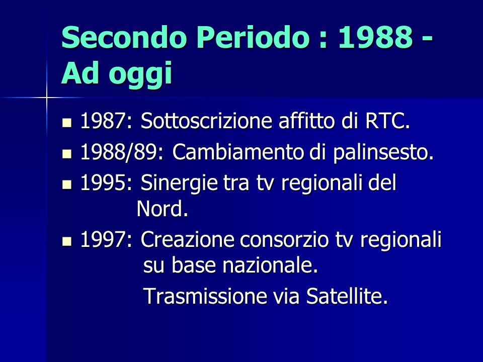 Secondo Periodo : 1988 - Ad oggi