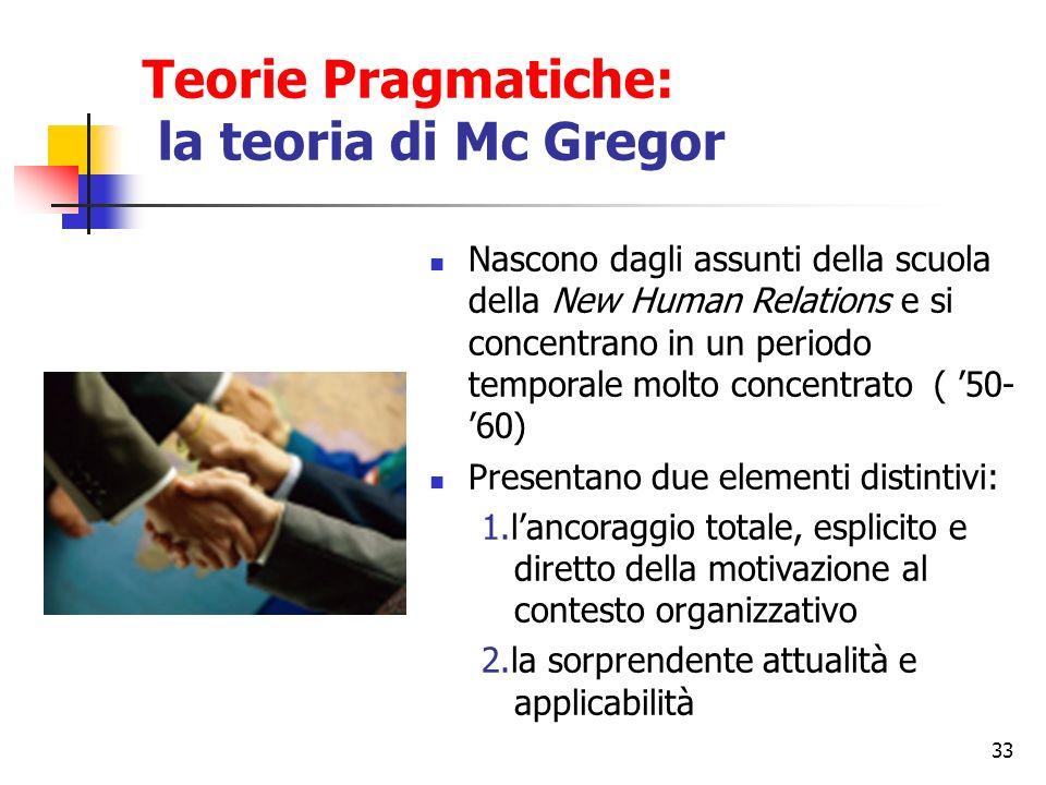 Teorie Pragmatiche: la teoria di Mc Gregor