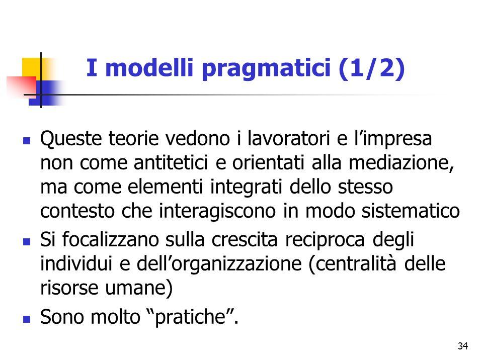 I modelli pragmatici (1/2)