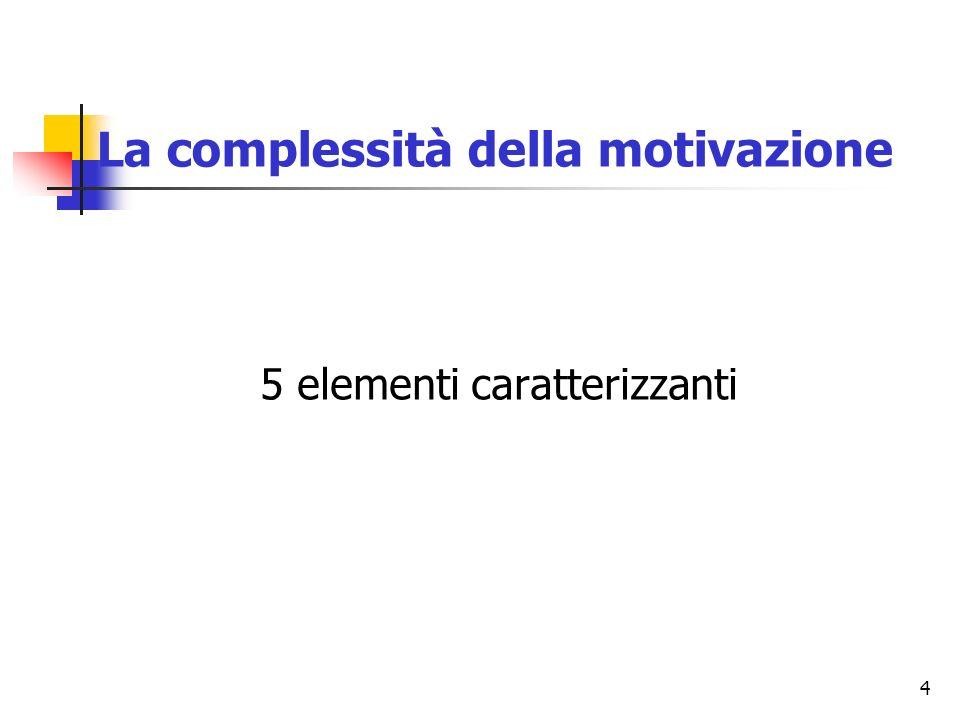 La complessità della motivazione