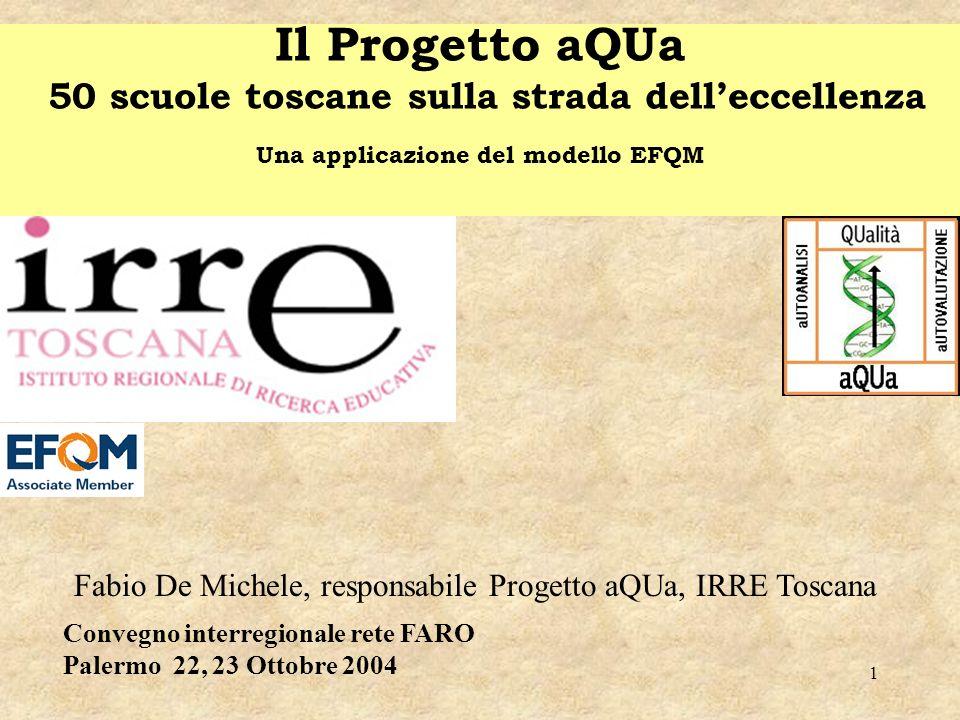 Il Progetto aQUa 50 scuole toscane sulla strada dell'eccellenza Una applicazione del modello EFQM