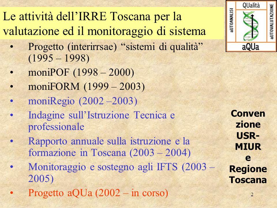 Conven zione USR- MIUR e Regione Toscana