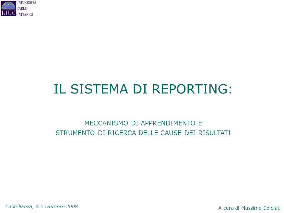 IL SISTEMA DI REPORTING:
