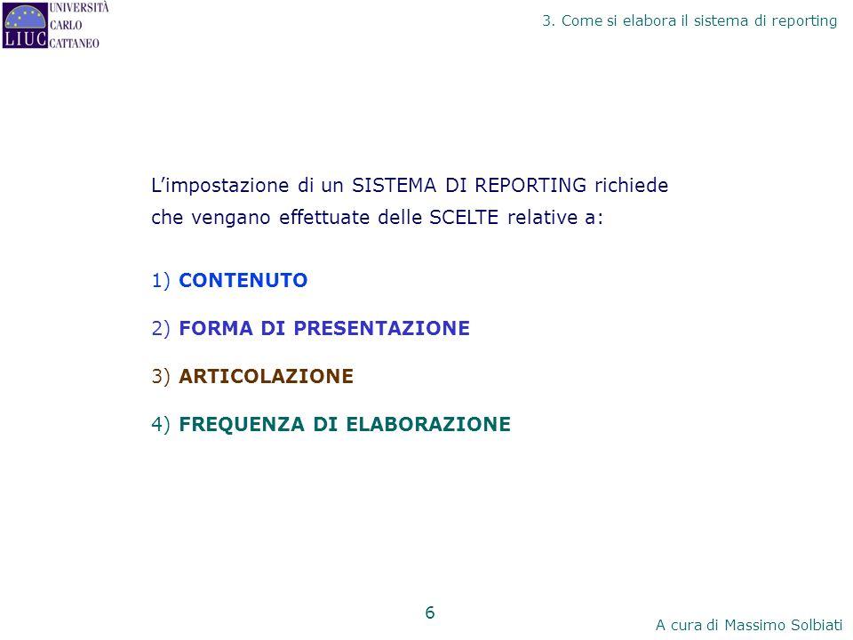 2) FORMA DI PRESENTAZIONE 3) ARTICOLAZIONE
