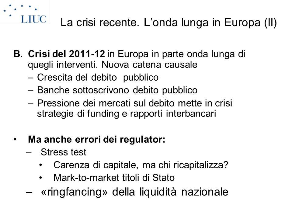 La crisi recente. L'onda lunga in Europa (II)