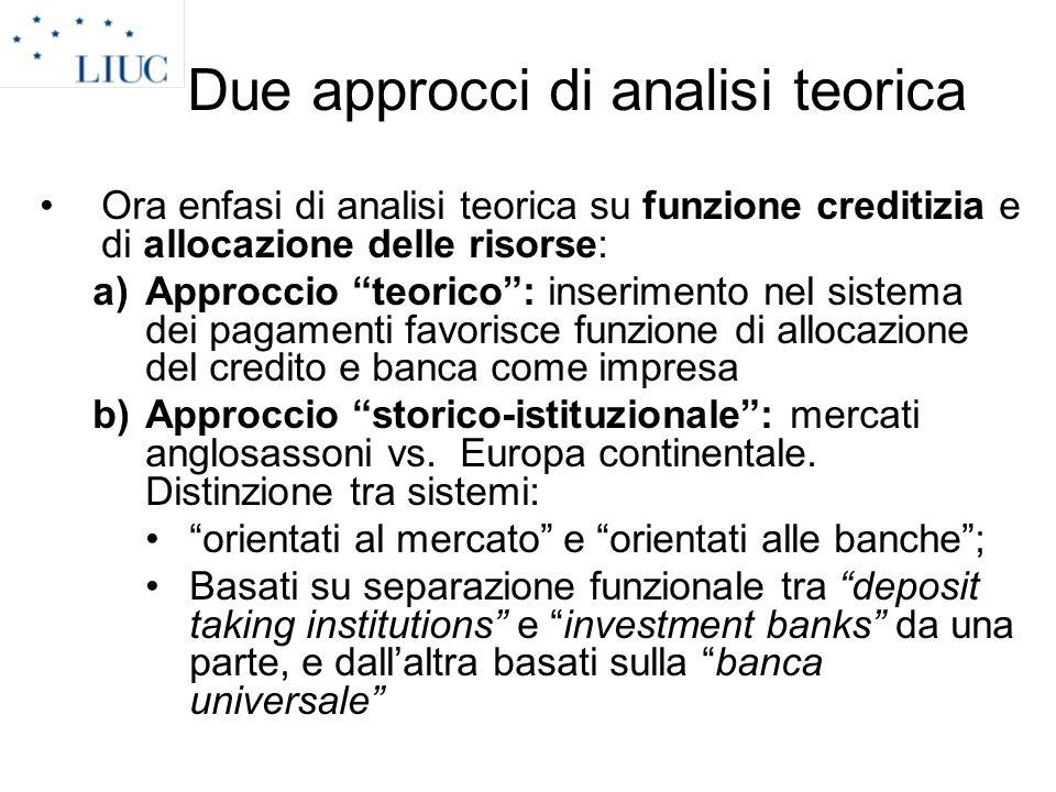 Due approcci di analisi teorica